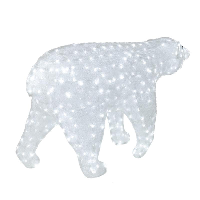 """Акриловая светодиодная фигура """"Белый медведь"""" 100х175см, 1976 светодиодов, IP 65, понижающий трансформатор в комплекте, NEON-NIGHT"""