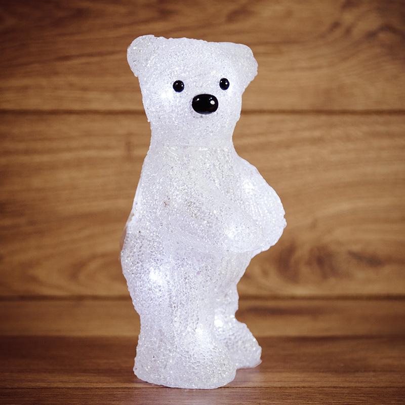 """Акриловая светодиодная фигура """"Медвежонок"""" 12х22х13 см, 4,5 В, 3 батарейки AAA (не входят в комплект), 10 светодиодов, NEON-NIGHT"""