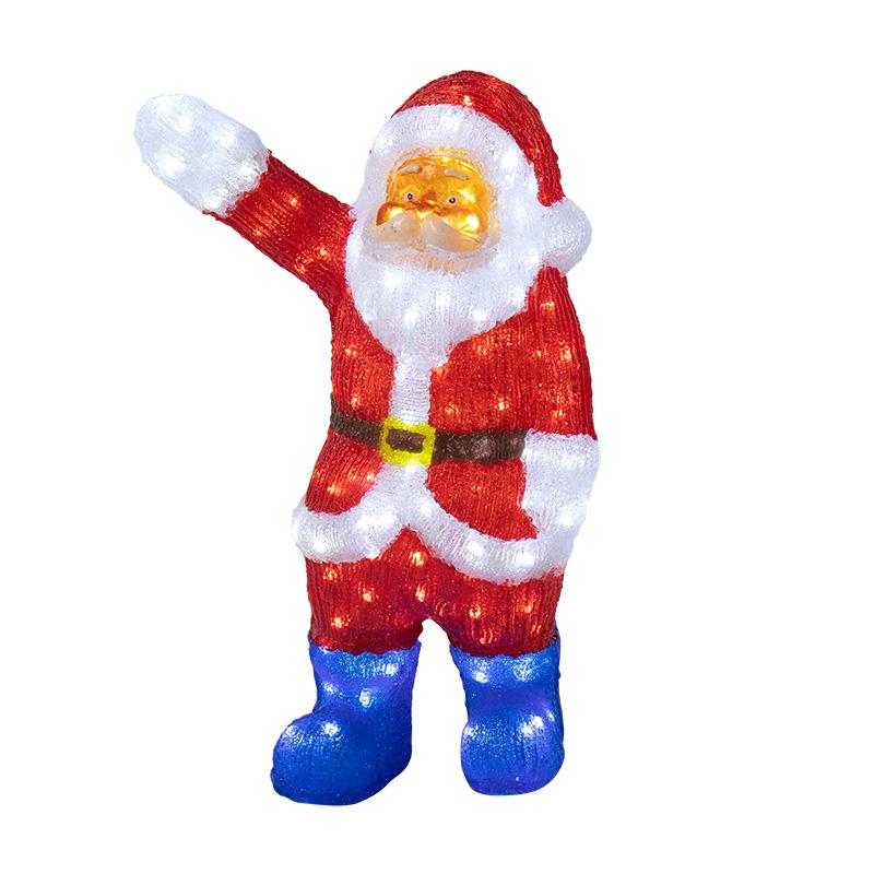 """Акриловая светодиодная фигура """"Санта Клаус приветствует"""" 60 см, 200 светодиодов, IP65 понижающий трансформатор в комплекте, NEON-NIGHT"""