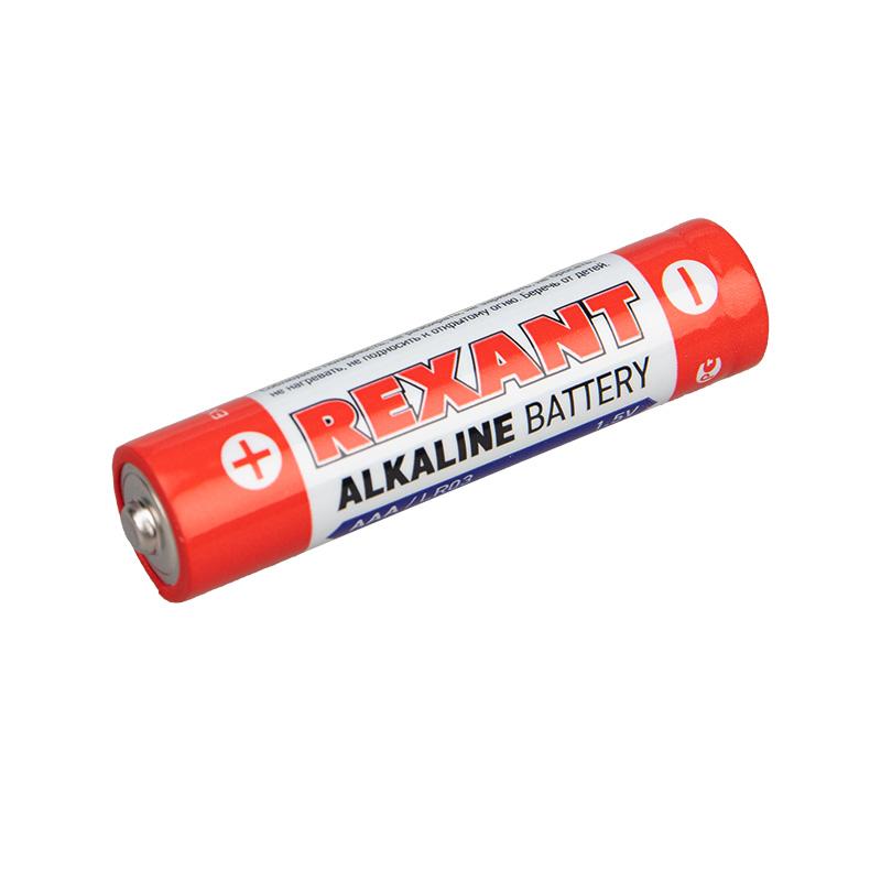 Алкалиновая батарейка AAA/LR03 экономичная упаковка 24 шт. REXANT
