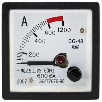 Амперметр 600/5А 50гц  (48х48)