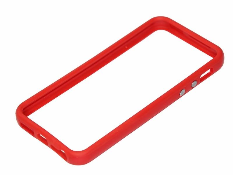 Бампер для iPhone 5/5S красный