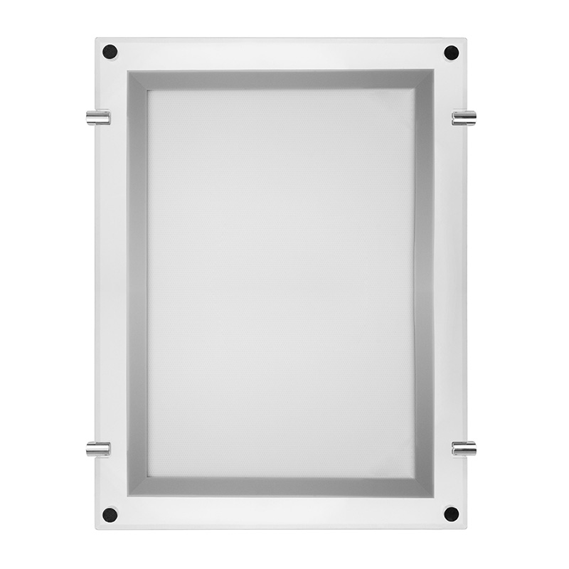 Бескаркасная подвесная двухсторонняя световая панель Постер Crystalline Round LED 360x510, 12 Вт REXANT
