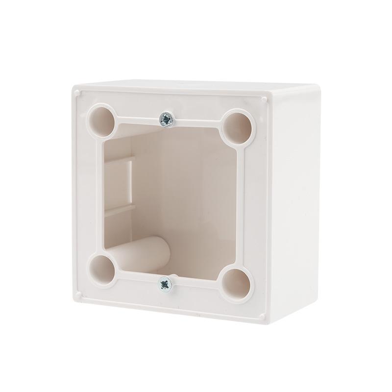 Бокс для  накладного монтажа  электроустановочных изделий  REXANT (глубина 43 мм) белый