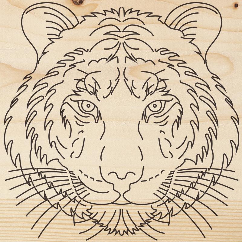 Доска для выжигания REXANT, «Тигр», 150х150 мм, 1 шт., пакет
