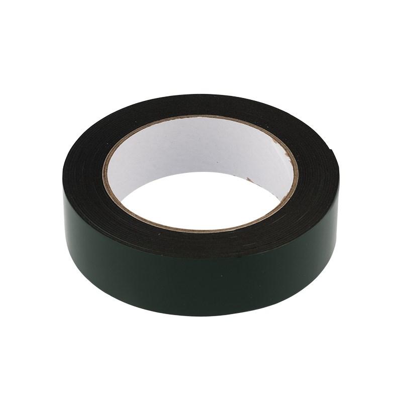 Двухсторонний скотч REXANT, черная, вспененная ЭВА основа, 30 мм, ролик 5 м