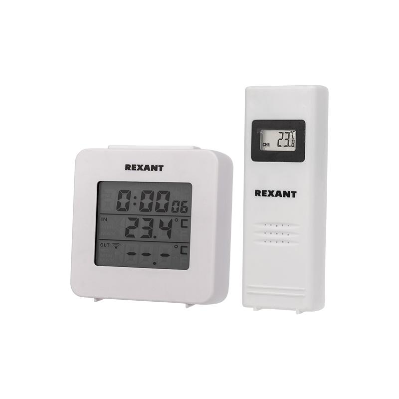 Электронный термометр с часами и беспроводным выносным датчиком