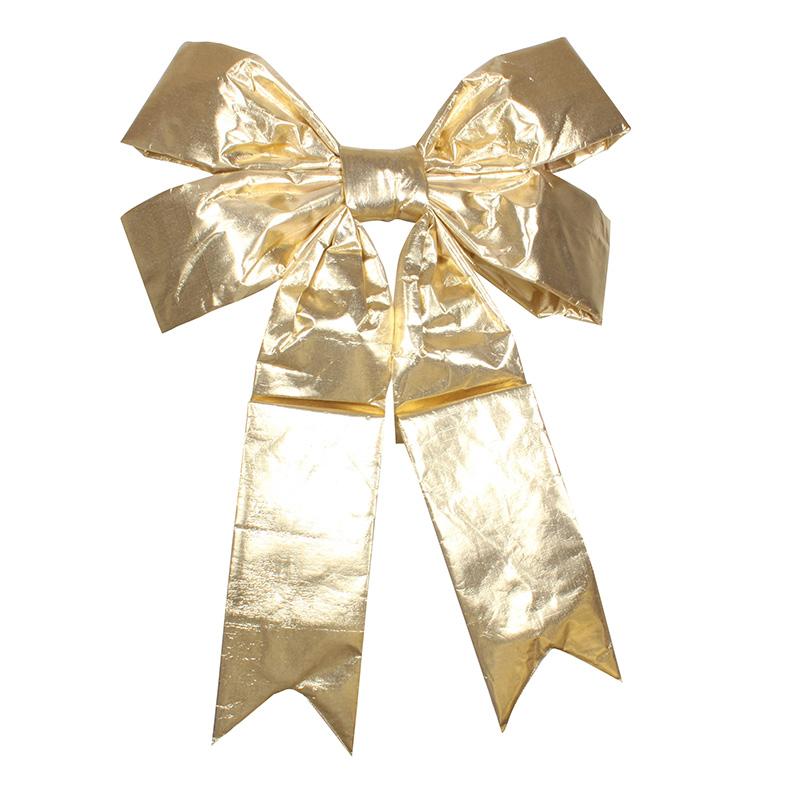 """Елочная фигура """"Бантик"""" 91 см, цвет золотой"""