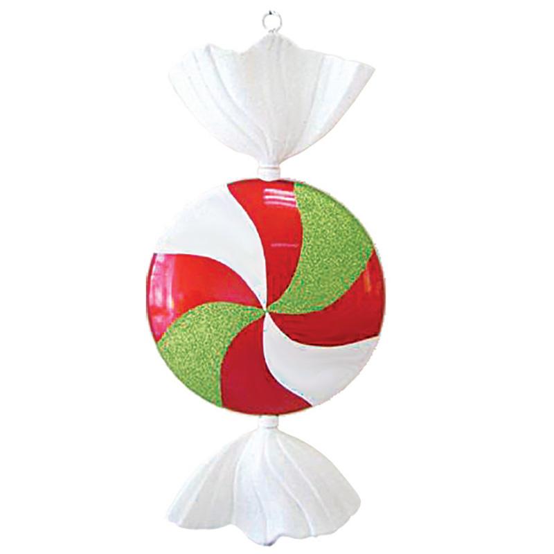 """Елочная фигура """"Леденец"""", 102 см, цвет белый, красный и зеленый"""