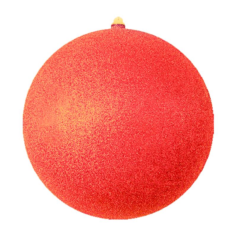 """Елочная фигура """"Шарик"""", 20 см, цвет красный"""