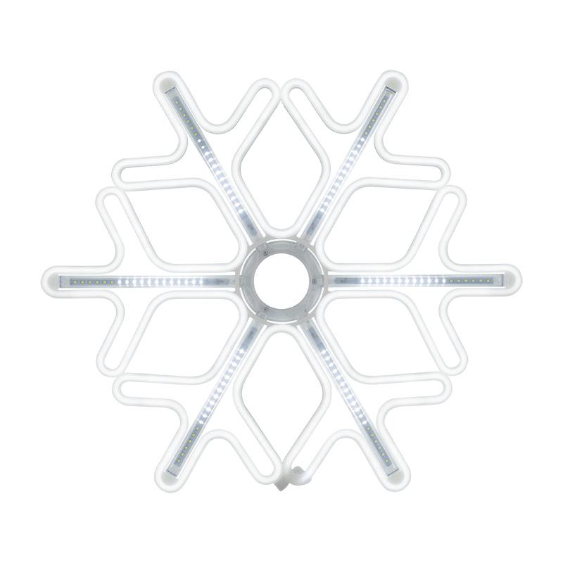 Фигура «Снежинка» из гибкого неона с эффектом тающих сосулек, 60х60 см, цвет свечения белый NEON-NIGHT