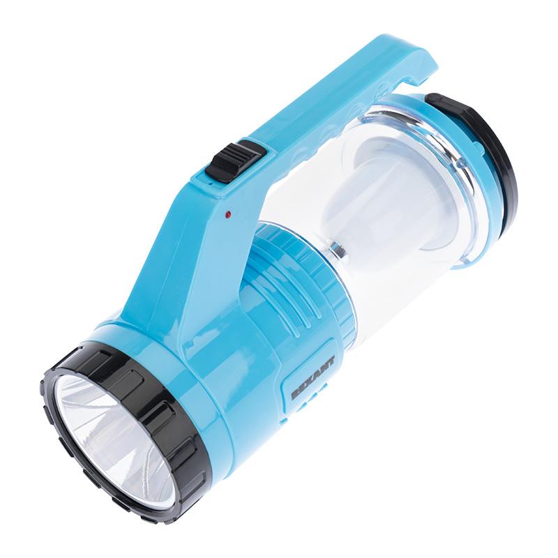 Фонарь туристический/поисковый/кемпинговый с Powerbank, аккумулятор, головной + боковой свет, солнечная батарея. Индикатор зарядки (выносное зарядное