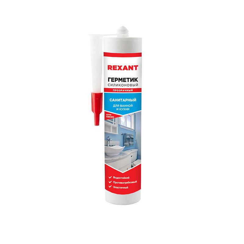 Герметик силиконовый санитарный REXANT 280 мл прозрачный