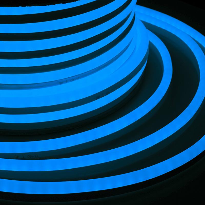 Гибкий Неон DIP 12x26мм  - синий, бухта 50м