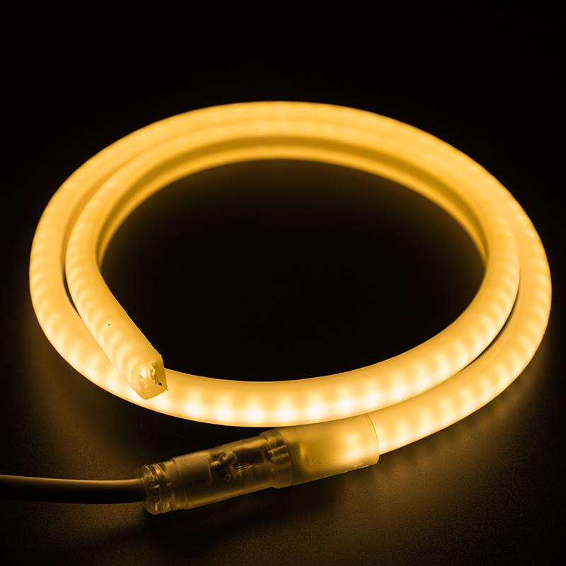 Гибкий Неон LED SMD 12х12 мм, форма - D, тёплый белый, 120 LED/м,  бухта 100м
