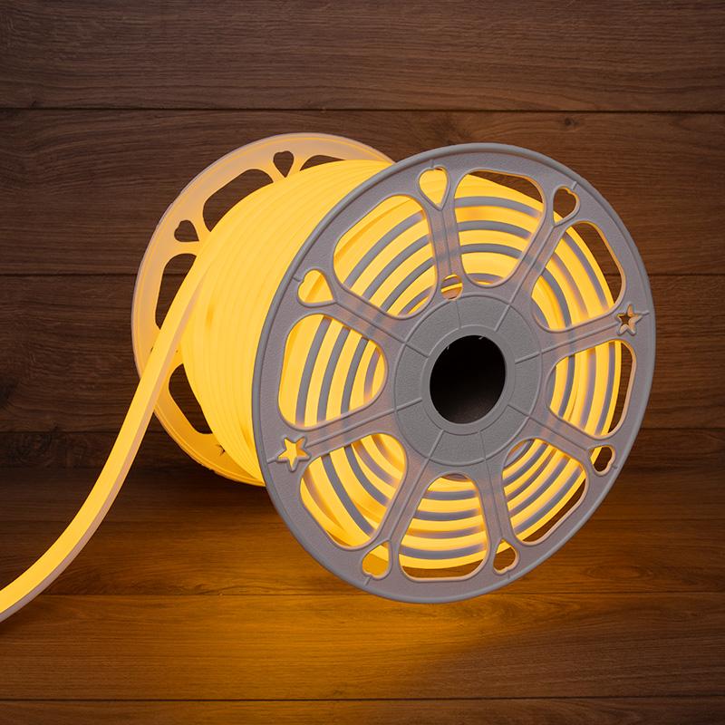 Гибкий неон LED SMD, форма – D, 16х16 мм, желтый, 120 LED/м, бухта 50 м
