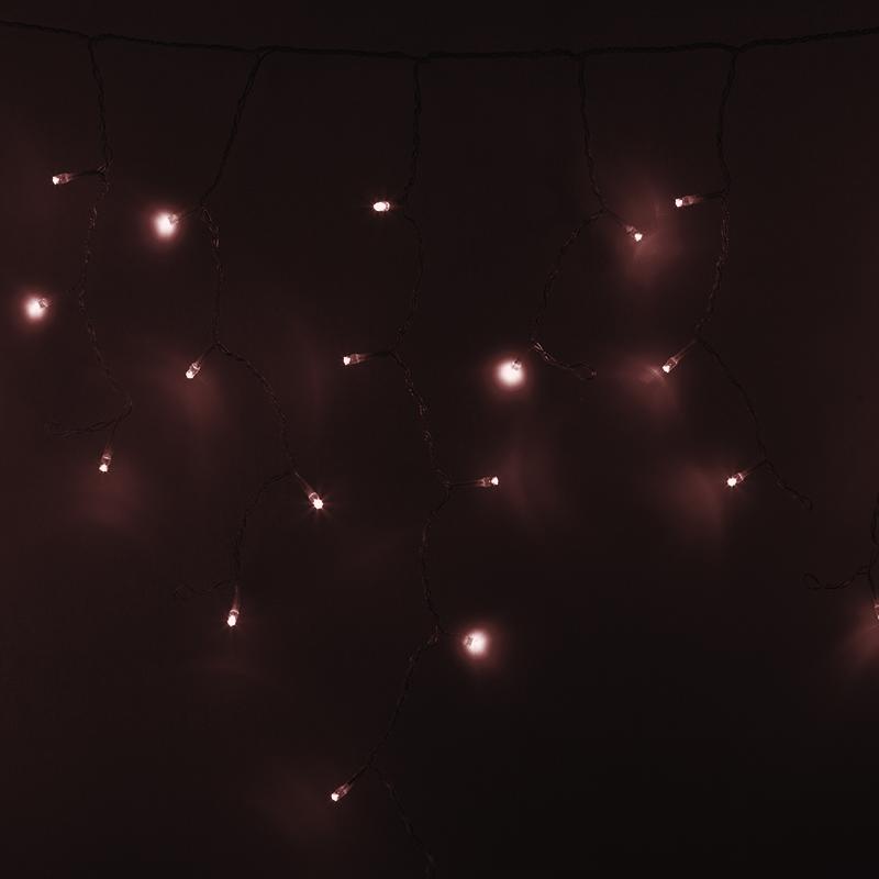 Гирлянда Айсикл (бахрома) светодиодный, 4,8 х 0,6 м, прозрачный провод, 230 В, цвет: Золото,  176 LED