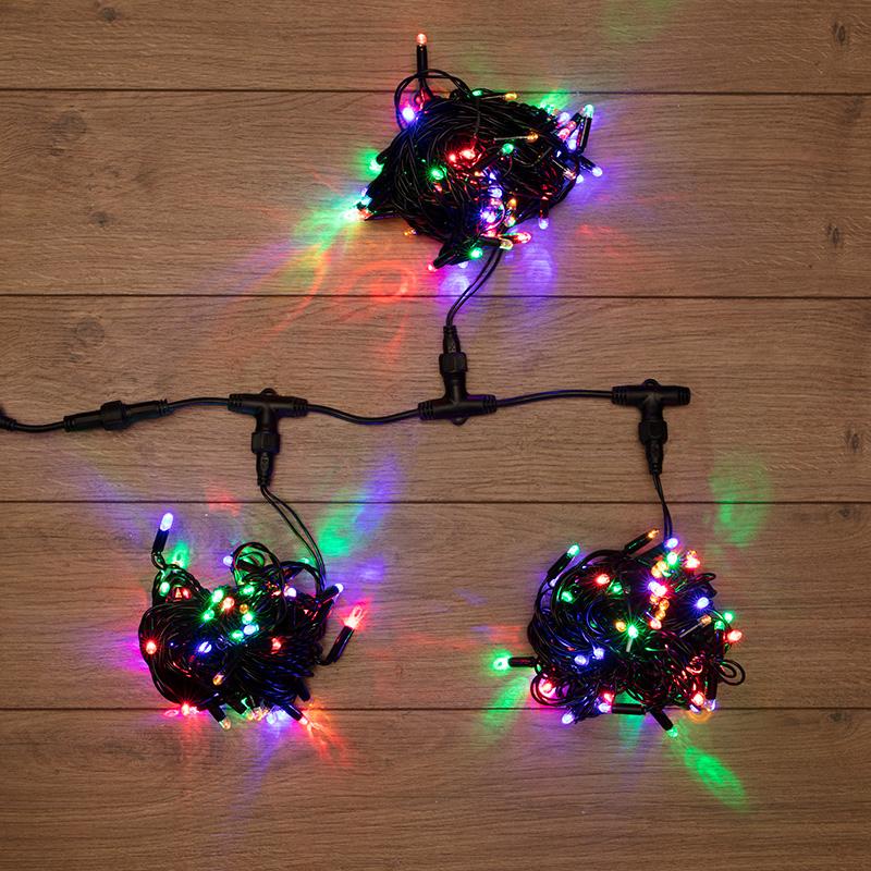 """Гирлянда """"LED ClipLight"""" 24V, 3 нити по 10 метров, цвет диодов Мульти"""