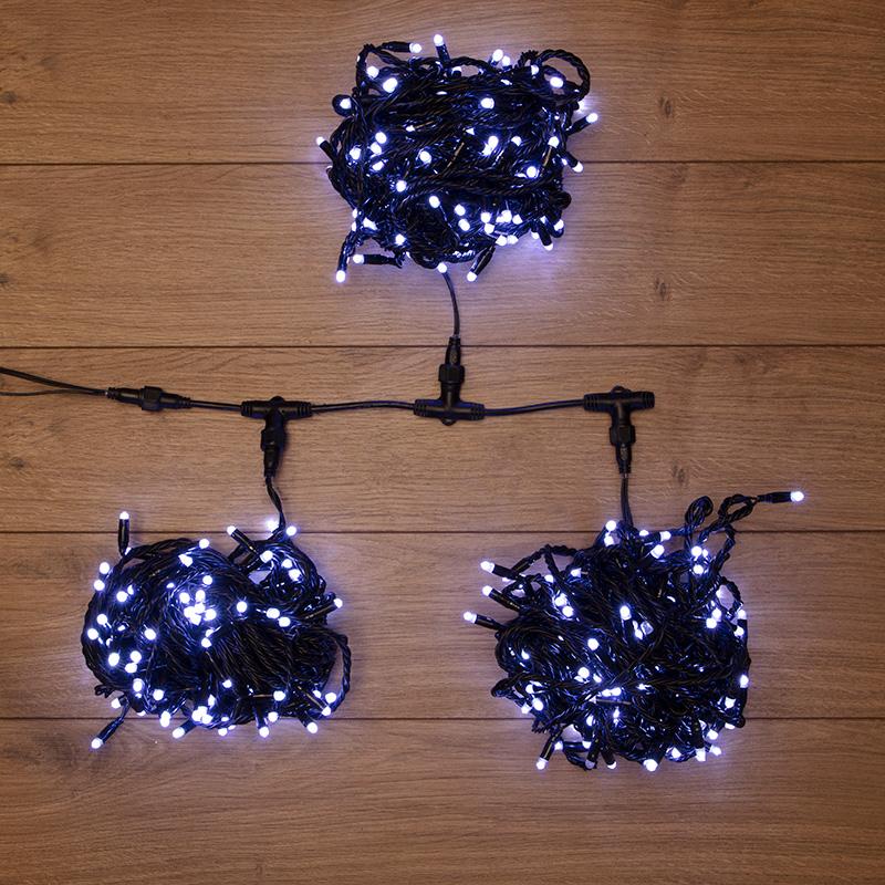 """Гирлянда """"LED ClipLight"""" 24V, 3 нити по 20 м, свечение с динамикой, цвет диодов Белый"""