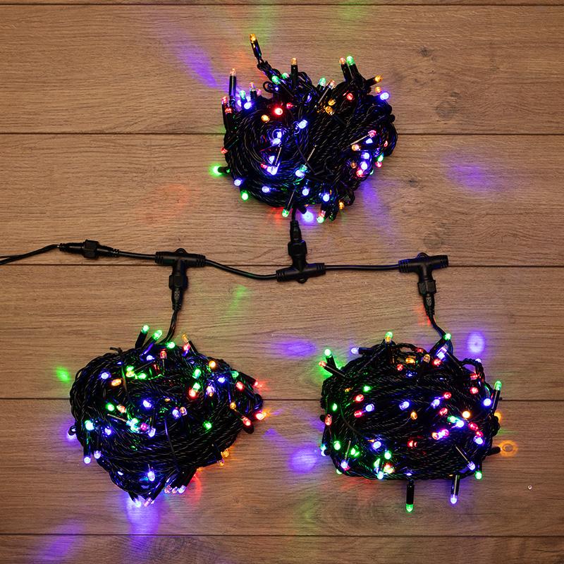 """Гирлянда """"LED ClipLight"""" 24V, 3 нити по 20 м, свечение с динамикой, цвет диодов Мульти"""