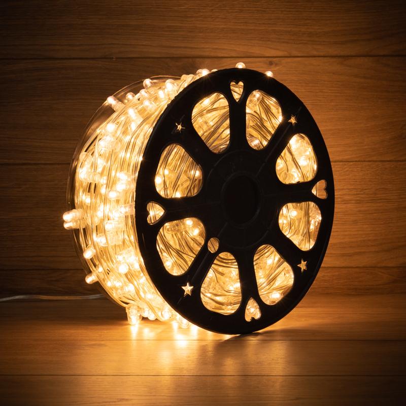 Гирлянда «LED Клип-лайт» 12 V, прозрачный ПВХ, 150 мм, цвет диодов Теплый белый,  Flashing (Белый)