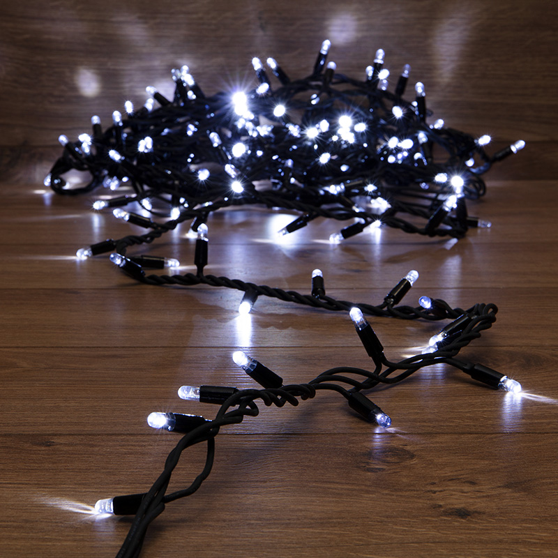 Гирлянда модульная «Дюраплей LED» 10 м, 200 LED, черный каучук, цвет свечения белый с эффектом мерцания NEON-NIGHT
