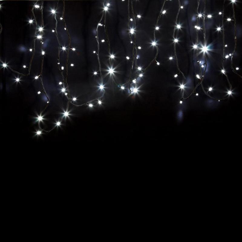 Гирлянда модульная «Дюраплей LED» 20 м, 200 LED, черный каучук, свечение белое