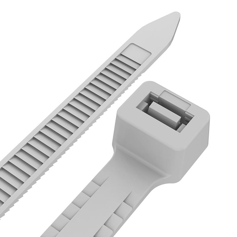 Хомут-стяжкa нейлоновая с тройным замком REXANT 200x4,8 мм, белая, упаковка 100 шт.