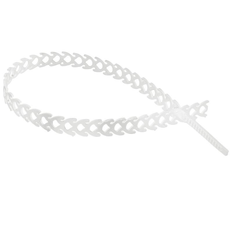 Хомут-стяжка полимерная многоразовая REXANT 300х10 мм, прозрачная, упаковка 20 шт.
