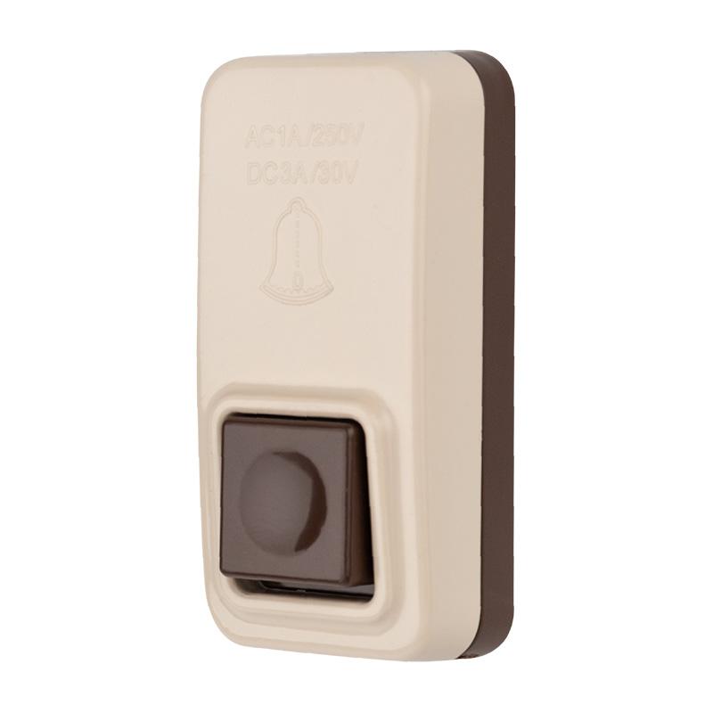 Кнопка для проводного звонка, пластик, 220 В