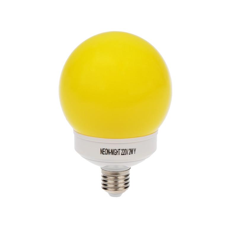 Лампа шар e27 12 LED  Ø100мм желтая