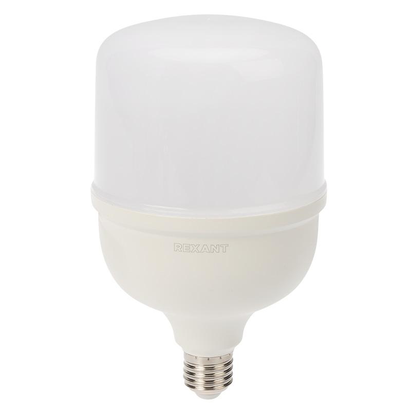 Лампа светодиодная высокомощная 50 Вт E27 с переходником на E40 4750 лм 6500 K холодный свет REXANT