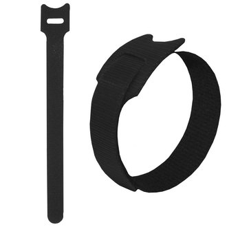 липучка 150х12 мм, черный (100шт)