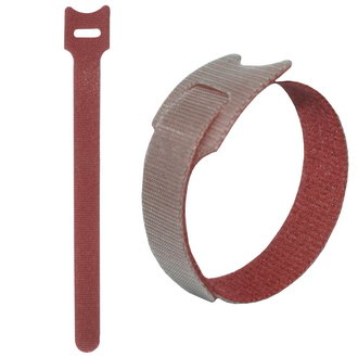 липучка 150х12 мм, красный (100шт)