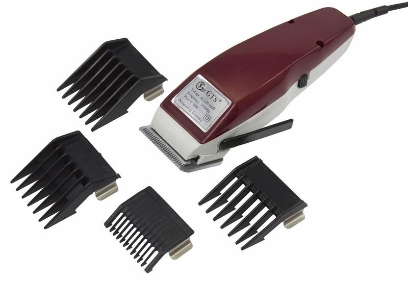 Машинка для стрижки волос, 15 Вт, + 4 насадки 3,6,9,12 мм  GTS