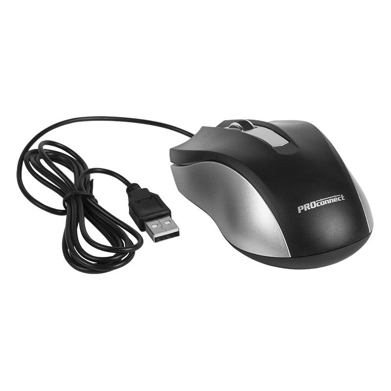Мышка компьютерная проводная классическая PROCONNECT