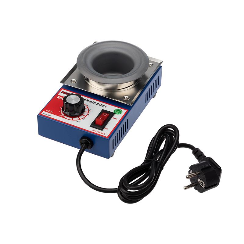 Паяльная ванна REXANT, модель R50F, 150 Вт, ø 50 мм, 200-480 °C, бессвинцовая