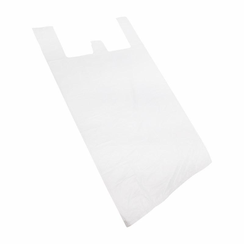 Пакет майка ПНД 30+16*60, 15мкм белая (100шт./уп)