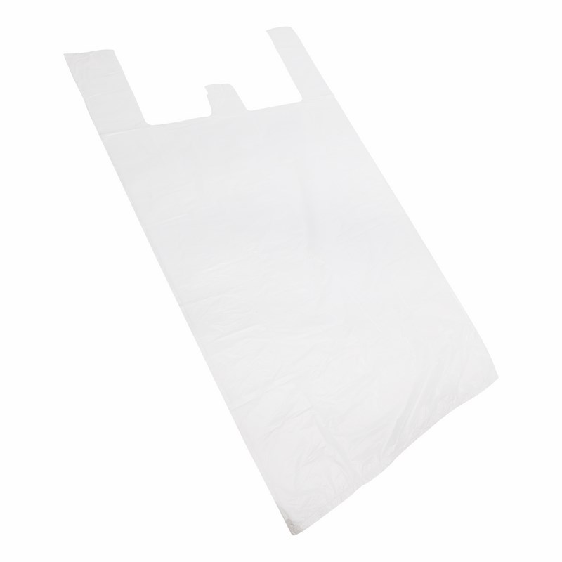 Пакет майка ПНД 42+20*75, 15мкм белая (100шт./уп)