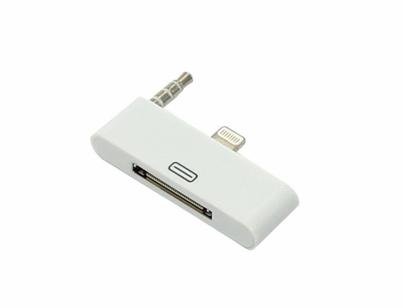 Переходник для iPhone 4 c 30 pin на 8 pin белый