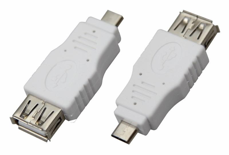 Переходник гнездо USB-A (Female)-штекер microUSB (Male) REXANT