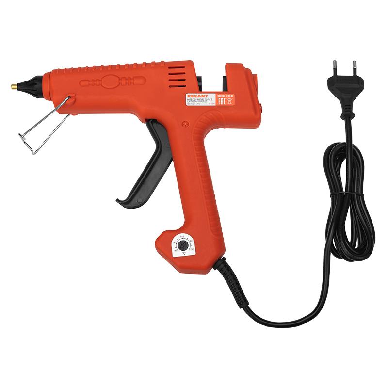 Пистолет клеевой REXANT, 300 Вт, Ø11 мм, «ЭКСПЕРТ», настройка температуры 100…220℃, блистер
