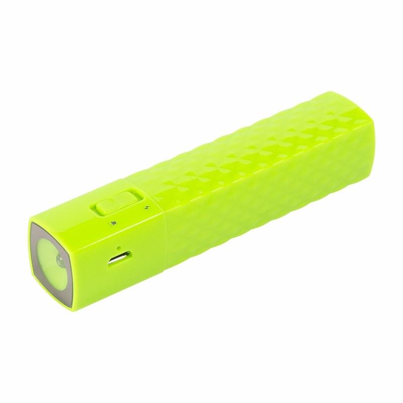 Портативное зарядное устройство Power Bank 2000  mAh c фонариком USB PROconnect (ЦВЕТ ЗЕЛЕНЫЙ)