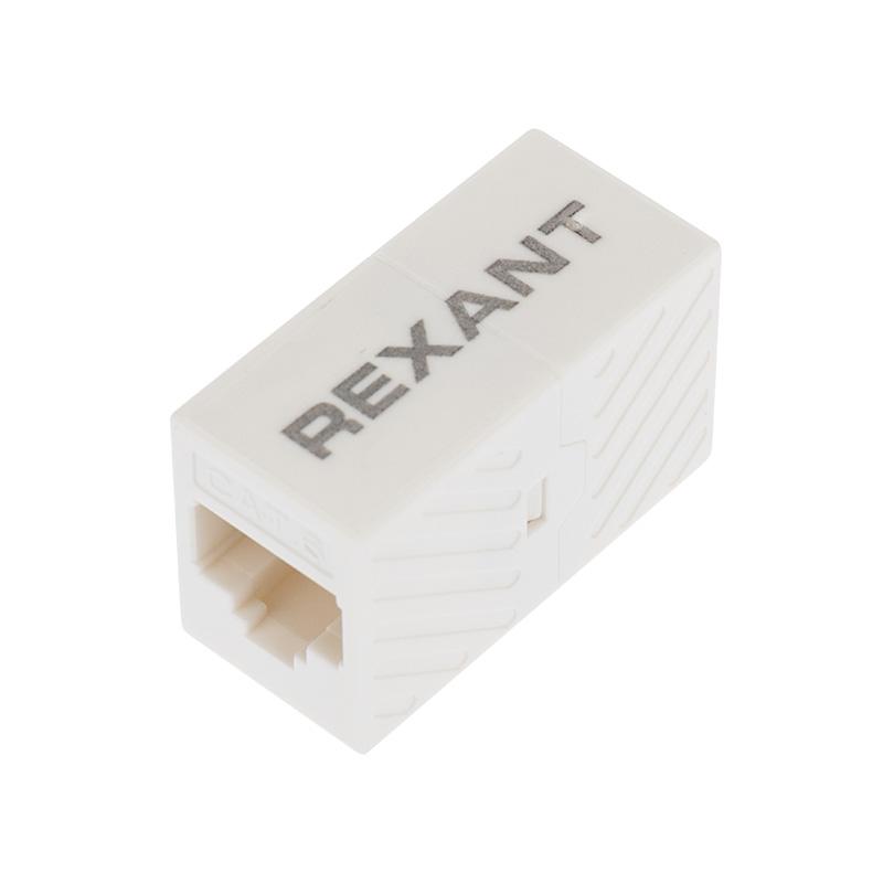 Проходной адаптер, RJ-45(8P-8C), UTP неэкранированный, категория 6, (гнездо-гнездо), REXANT