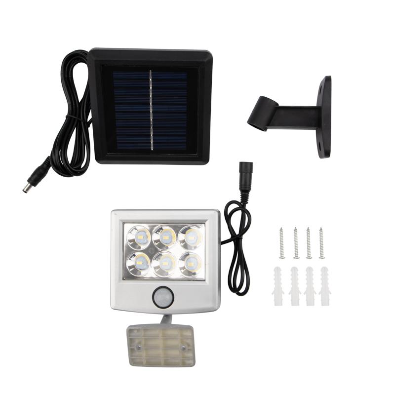 Прожектор поворотный Lamper LED 98х150х30 мм с выносной солнечной панелью 2 м и аккумулятором, IP65, нейтральное белое свечение