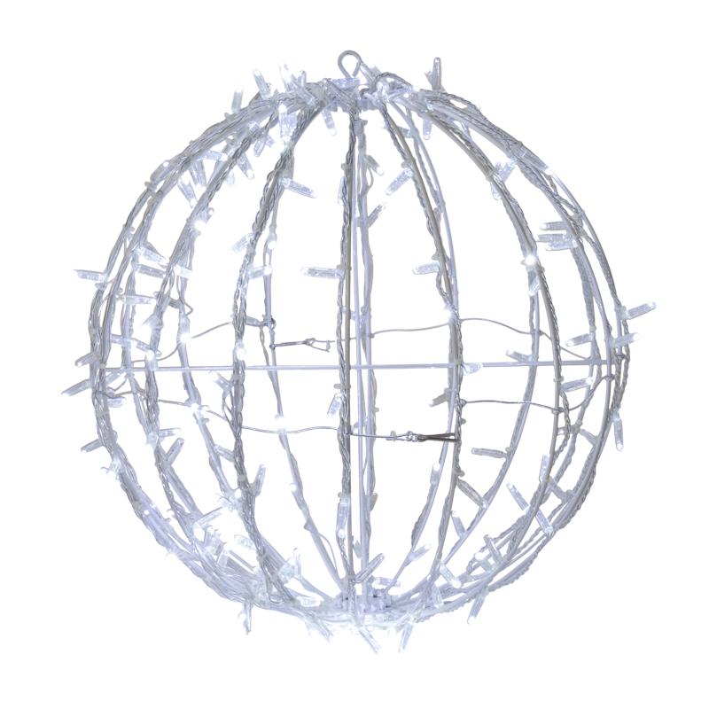 Шар светодиодный 230V, диаметр 30 см, 120 светодиодов, эффект мерцания, цвет теплый белый    NEON-NIGHT