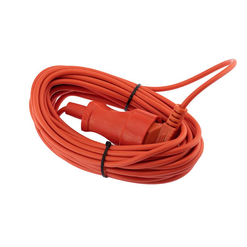 Шнур-удлинитель 10 метров оранжевый ПВС 2х0.75 мм² (6 А/1300 Вт) PROconnect