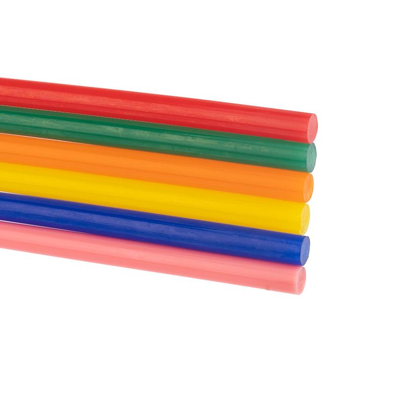 Стержни клеевые REXANT Ø 7 мм, 100 мм, цветные (12 шт./уп.) (блистер)