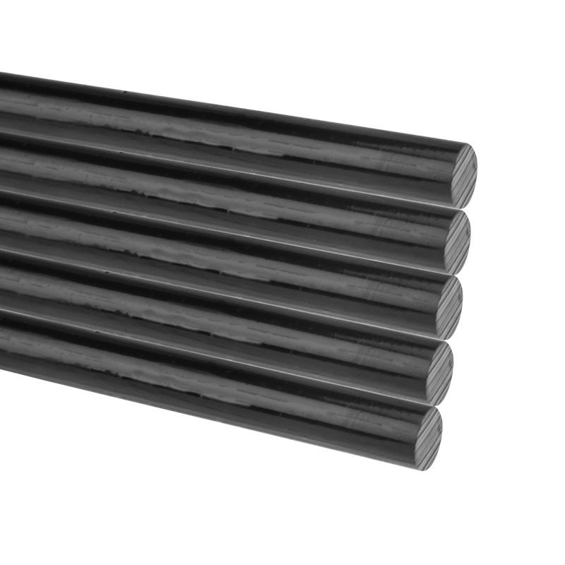 Стержни клеевые REXANT Ø 7 мм, 200 мм, черные (10 шт./уп.) (хедер)