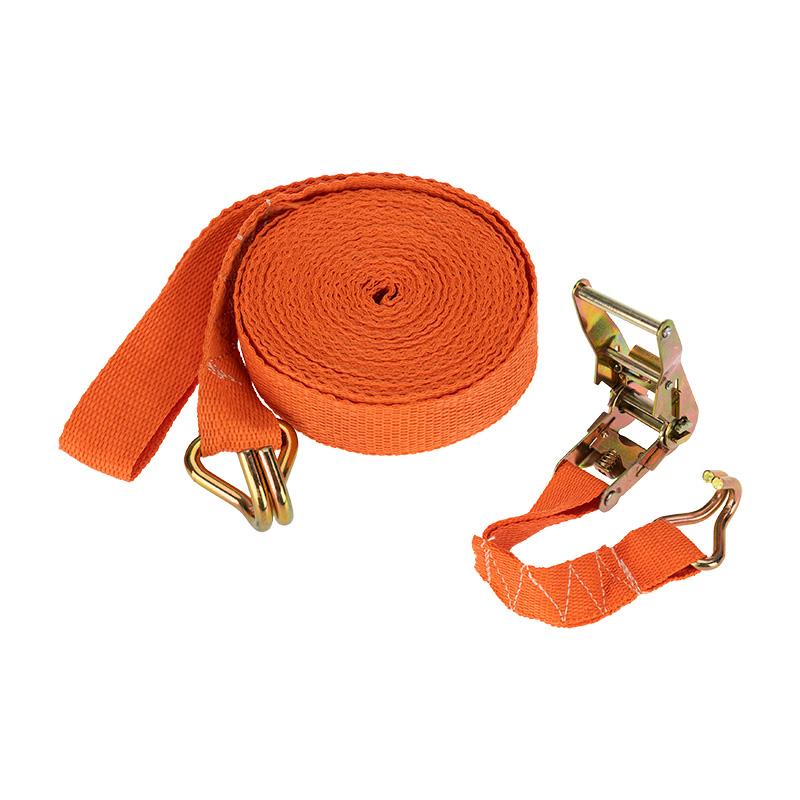 Стяжка для груза REXANT багажная с крюками, с храповым механизмом, 10х0.038 м